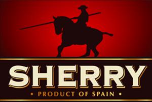 Spanischer Sherry Etikettengestaltung